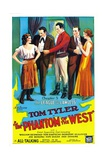 THE PHANTOM OF THE WEST  center: Tom Tyler in 'Chapter 5: The League of the Lawless'  1931