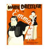 EMMA  left: Marie Dressler on window card  1932