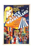 ALICE IN WONDERLAND  US poster art  top: Ruth Gilbert as Alice  1931