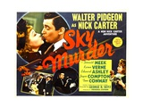 SKY MURDER  top left from left: Kaaren Verne  Walter Pidgeon  1940