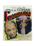 GAMBLING  US poster  far left: George M Cohan  Wynne Gibson (center right)  1934