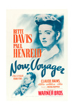 NOW  VOYAGER  Bette Davis  Paul Henreid  1942  poster art