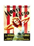MONTE CARLO  Jeanette Macdonald on window card  1930
