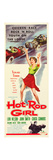 HOT ROD GIRL  Lori Nelson on insert poster art  1956