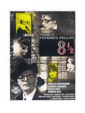 8 1/2  French poster  Marcello Mastroianni  1963