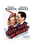 THERE GOES MY HEART  US poster art  from left: Virginia Bruce  Fredric March  1938