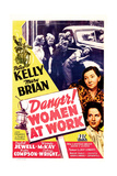 DANGER! WOMEN AT WORK  US poster  middle right: Patsy Kelly  Mary Brian  1943