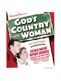 GOD'S COUNTRY AND THE WOMAN  from left: George Brent  Beverly Roberts on window card  1937