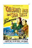 CALAMITY JANE AND SAM BASS  US poster  from left: Yvonne De Carlo  Howard Duff  1949