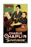 SUNNYSIDE  Charlie Chaplin (standing)  Edna Purviance  1919
