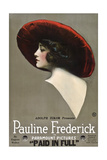 PAID IN FULL  Pauline Frederick  1919
