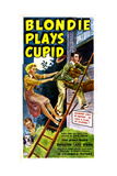 BLONDIE PLAYS CUPID  US poster  from top: Arthur Lake  Penny Singleton  Larry Simms  Daisy  1940