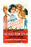 THE KID FROM SPAIN  US 1944 reissue poster art  Eddie Cantor (bottom right  in matador suit)  1932