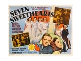 SEVEN SWEETHEARTS  bottom inset from left: Van Heflin  Kathryn Grayson  1942