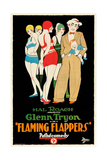 FLAMING FLAPPERS  man holding baby on right: Glenn Tryon  1925