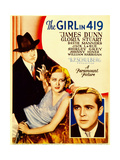 THE GIRL IN 419  from left: James Dunn  Gloria Stuart  David Manners on midget window card  1933
