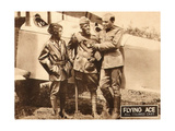 THE FLYING ACE  left: Kathryn Boyd  far right: Lawrence Griner on lobbycard  1926