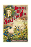 BUFFALO BILL AND SAN JUAN HILL  top left: Buffalo Bill on poster art  1902