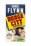 DODGE CITY  from left: Olivia de Havilland  Errol Flynn  Ann Sheridan  1939