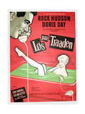 PILLOW TALK  (aka LOS PAA TRAADEN)  Danish poster  Rock Hudson  Doris Day  1959