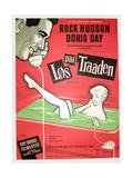 Pillow Talk  (aka Los Paa Traaden)  Danish poster  Rock Hudson  Doris Day  1959