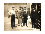 CHASE ME CHARLIE  second from right: Charlie Chaplin on lobbycard  1918
