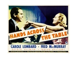HANDS ACROSS THE TABLE  from left: Fred MacMurray  Carole Lombard  1935
