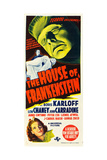 THE HOUSE OF FRANKENSTEIN  from top: Boris Karloff  bottom: Anne Gwynne  1944