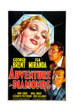 ADVENTURE IN DIAMONDS  US poster  from top: Isa Miranda  George Brent  John Loder  1940