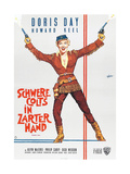 CALAMITY JANE (aka SCHWERE COLTS IN ZARTER HAND)  German poster  Doris Day  1953
