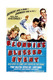 BLONDIE'S BLESSED EVENT  from left: Penny Singleton  Arthur Lake  Daisy  Larry Simms  1942