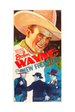 THE NEW FRONTIER  John Wayne  movie poster art  1935