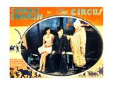 THE CIRCUS  l-r: Merna Kennedy  Charlie Chaplin  Henry Bergman on lobbycard  1928
