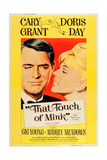 THAT TOUCH OF MINK  l-r: Cary Grant  Doris Day on US poster art  1962