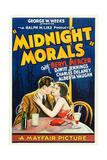 MIDNIGHT MORALS  l-r: Charles Delaney  Alberta Vaughn on poster art  1932