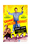 CHINA'S LITTLE DEVILS  US poster  from left: Harry Carey (bottom left)  Ducky Louie (center)  1945