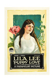 PUPPY LOVE  Lila Lee on poster art  1919