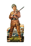 DAVY CROCKETT  KING OF THE WILD FRONTIER  Fess Parker on standee promotional poster  1954