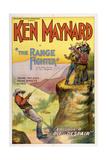 THE RANGE FIGHTER  left: Ken Maynard in 'Episode 8: The Pit of Despair'  1926