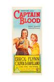 CAPTAIN BLOOD  l-r: Errol Flynn  Olivia DeHavilland on Australian poster art  1935