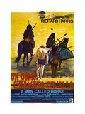 A MAN CALLED HORSE  (aka UN UOMO CHIAMATO CAVALLO)  Italian poster  center: Richard Harris  1970