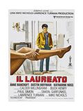 THE GRADUATE  (aka IL LAUREATO)  Italian poster  Dustin Hoffman  1967