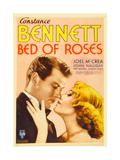 BED OF ROSES  from left: Joel McCrea  Constance Bennett on midget window card  1933