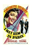 I MET HIM IN PARIS  Claudette Colbert  Melvyn Douglas  Robert Young  1937