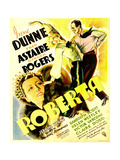 ROBERTA  from bottom left: Irene Dunne  Ginger Rogers  Fred Astaire on window card  1935