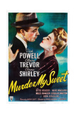 MURDER  MY SWEET  from left  Dick Powell  Claire Trevor  1944