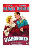 DISHONORED  from left on US poster art: Marlene Dietrich  Victor McLaglen  1931
