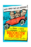 BROOKLYN ORCHID  US poster  from left: Joe Sawyer   Marjorie Woodworth  William Bendix  1942