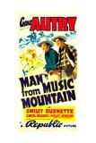 MAN FROM MUSIC MOUNTAIN  from left: Gene Autry  Smiley Burnette  1938