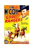 CODE OF THE RANGERS  top right: Tim McCoy  1938